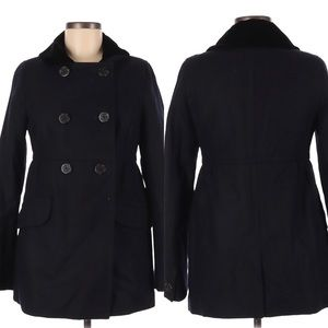 American Eagle Babydoll Peacoat with Velvet Collar
